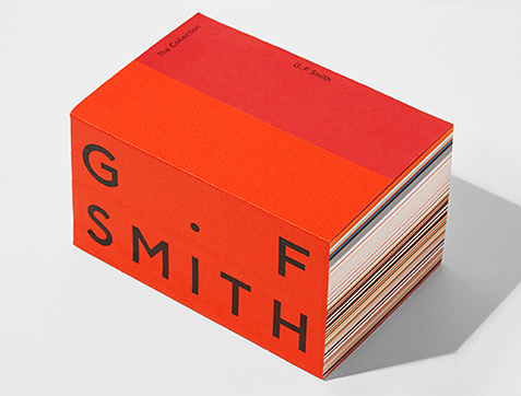 Photograph of G F Smith paper sample book.