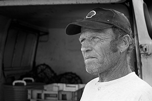 Photographic portrait of a fisherman.
