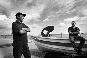 Photograph of Cromer crab fishermen.