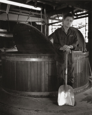 Photograph of Peter in the brewery.