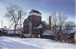 Photograph of the brewery in winter.