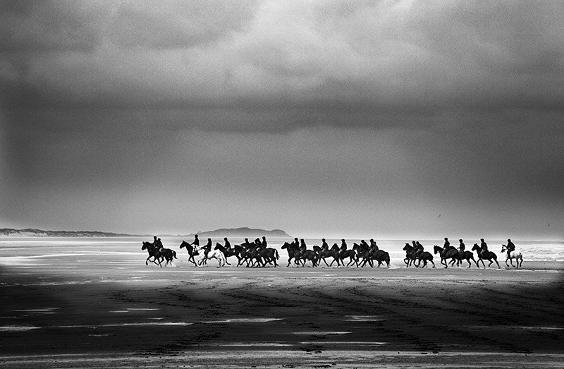 A line of cavalry