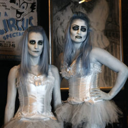 Infrared photograph of two Vamps at the Hippodrome Circus