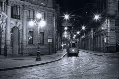 Night tram - Milano