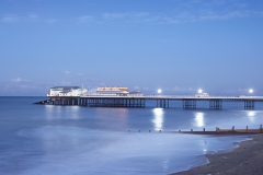 The illuminated pier.