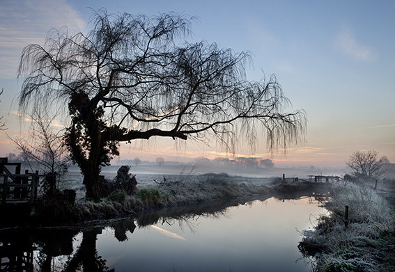 Early morning photograph of the river at Burgh-next-Aylsham.