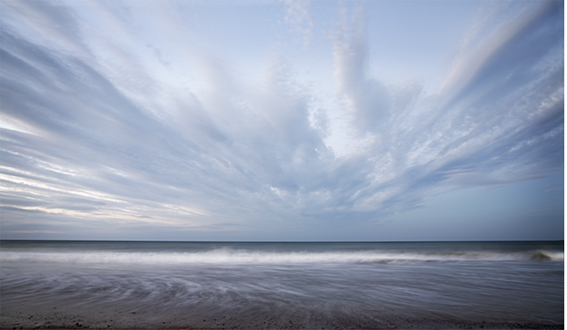 Photograph of dramatic sky Norfolk Coast