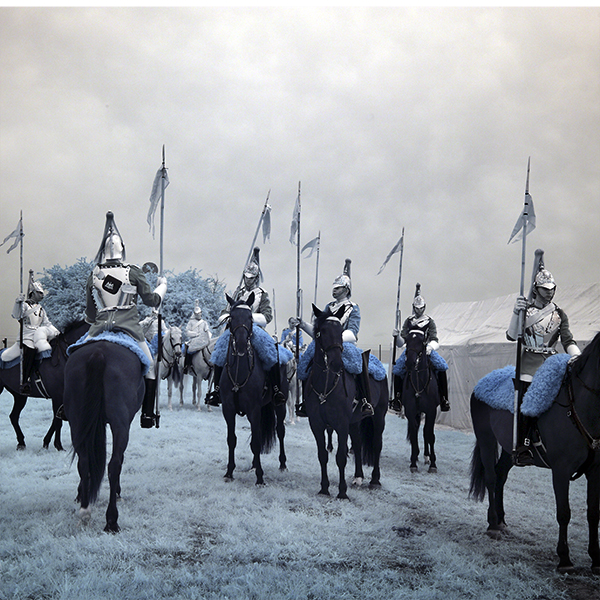 Infrared photograph of the Household Cavalry.