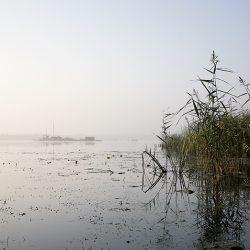 A photograph of Barton Broad Norfolk before sunrise.