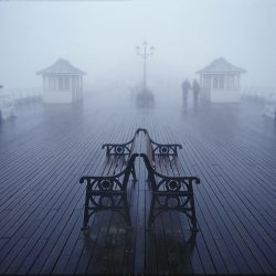 Photograph of Cromer pier in the mist.