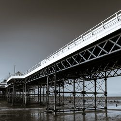 Tritone photograph of Cromer pier Norfolk.