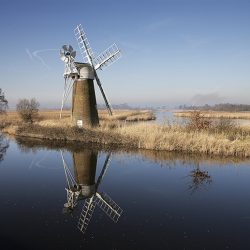 A photograph of the wind pump at Thurne.