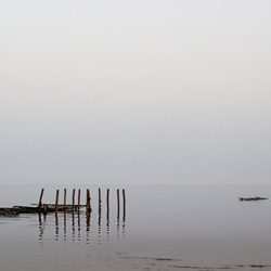 Early morning photograph of the Mussel Beds near Hunstanton Norfolk.
