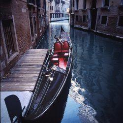 Photograph of a gondola in Venice