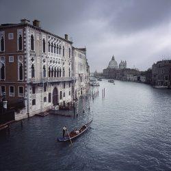 Photograph of a gondola in Venice.