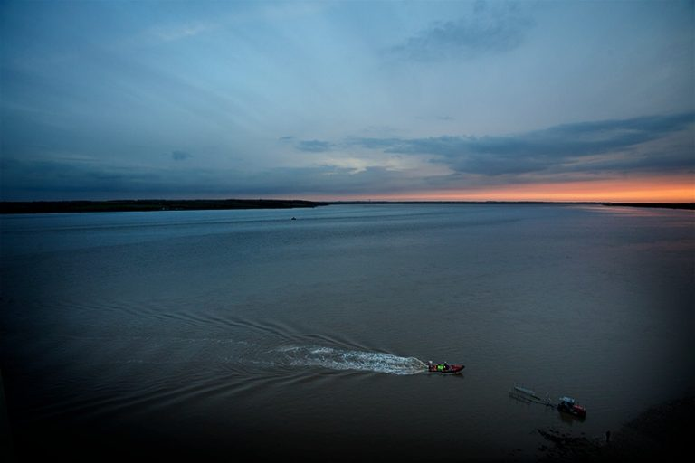 A colour photograph of the humber Rescue launch.