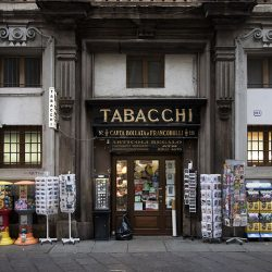 Colour photograph of a Tabachi in Milan.