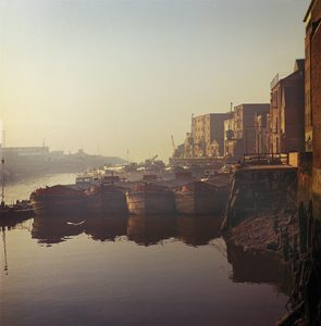 Colour photograph of the river Hull 1971.