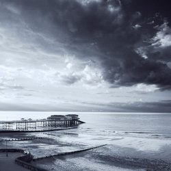 Infrared photograph of Cromer pier Norfolk.
